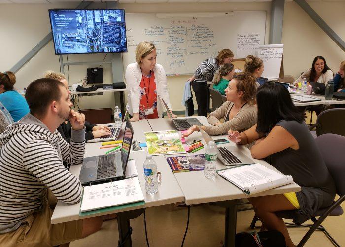 LIFT teachers in summer workshop discussion